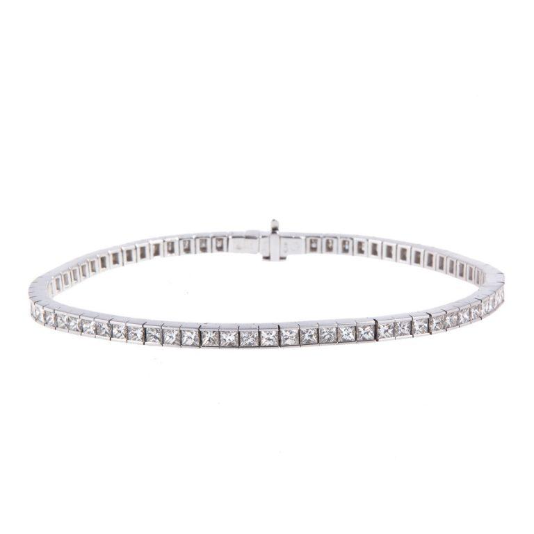 18ct-white-gold-princess-cut-diamond-bracelet
