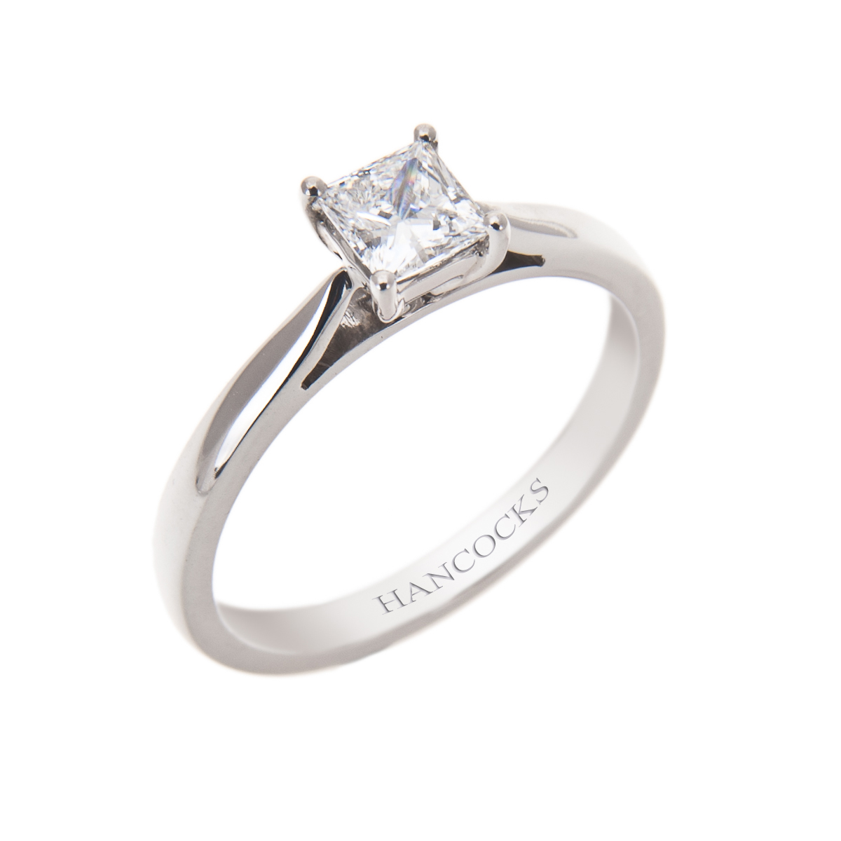 certificated d colour princess cut diamond ring