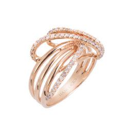 rose gold diamond set multi strand ring HC 100719 84