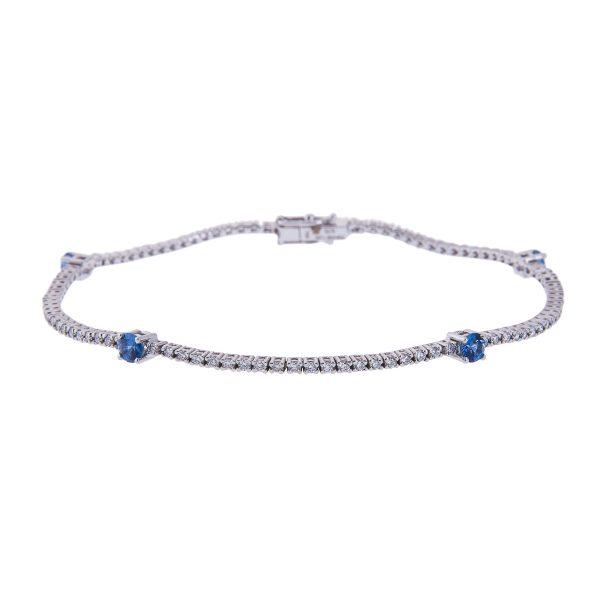claw-set-sapphire-and-diamond-bracelet