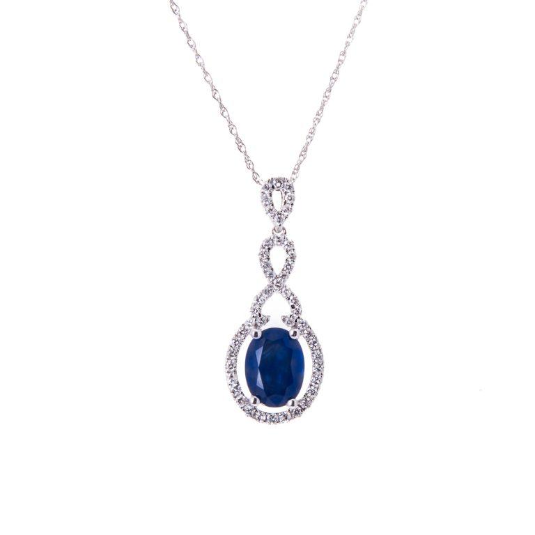 white-gold-oval-sapphire-and-diamond-pendant