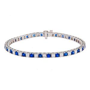 square-cut-sapphire-and-diamond-claw-set-bracelet