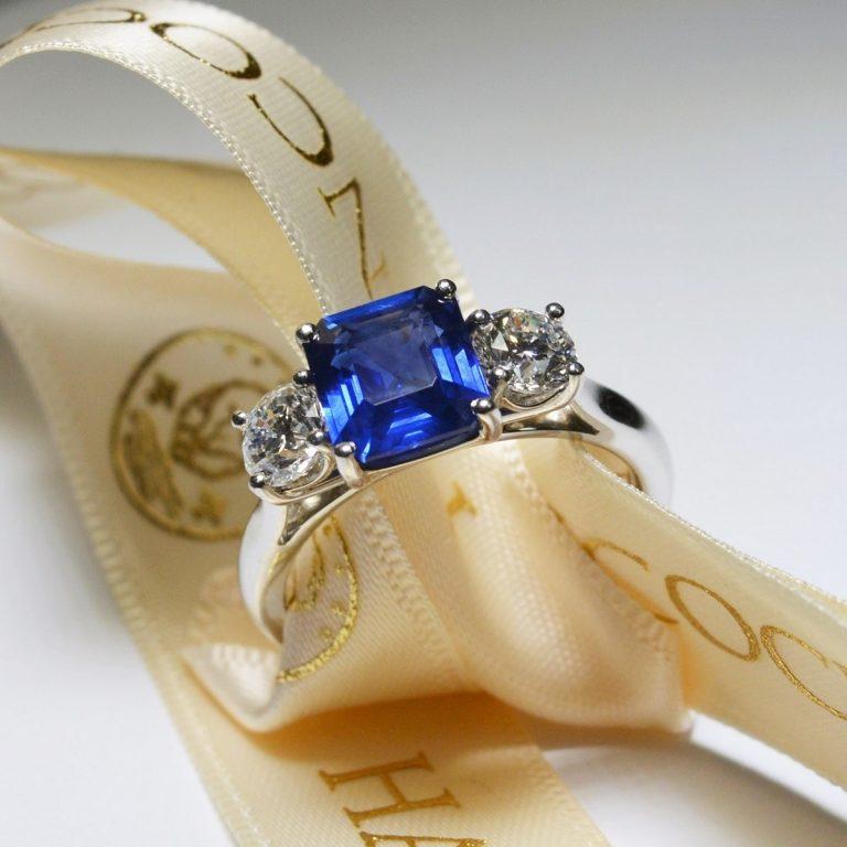 sapphire ring hancocks jewellers manchester