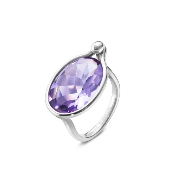 georg jensen savannah amethyst and silver ring