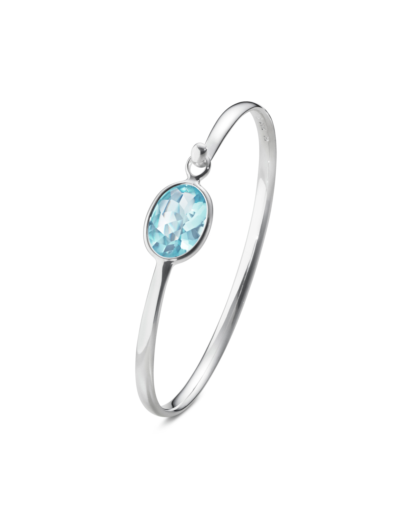 georg jensen savannah blue topaz and silver bangle