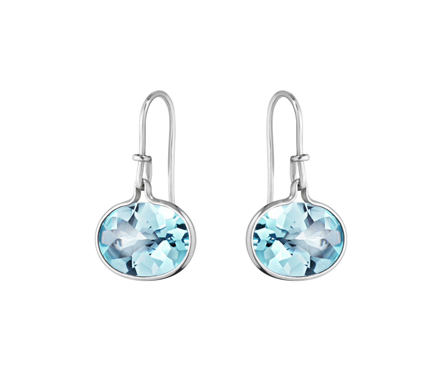 georg jensen savannah blue topaz and silver hook earrings