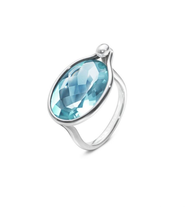 georg jensen savannah silver and blue topaz ring