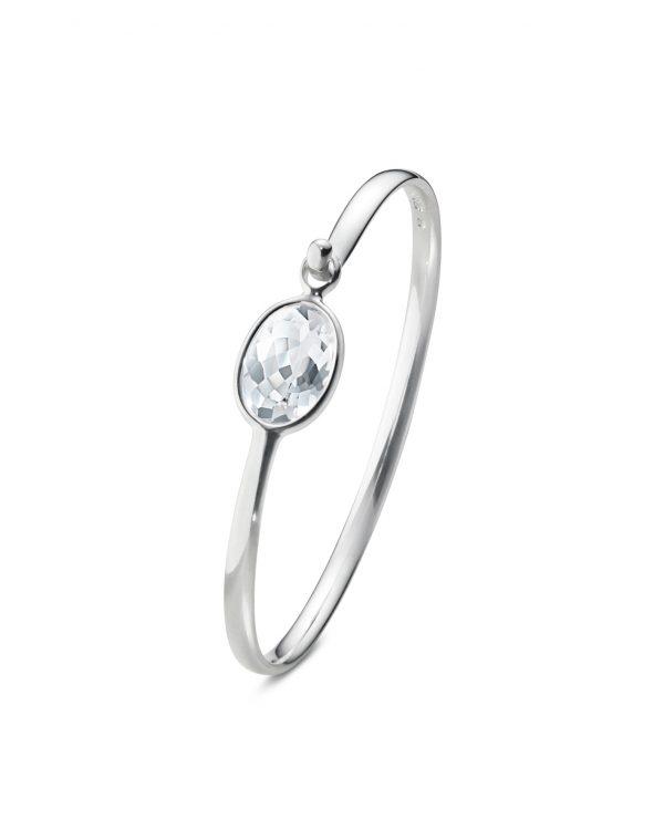 georg jensen savannah silver and rock crystal bangle