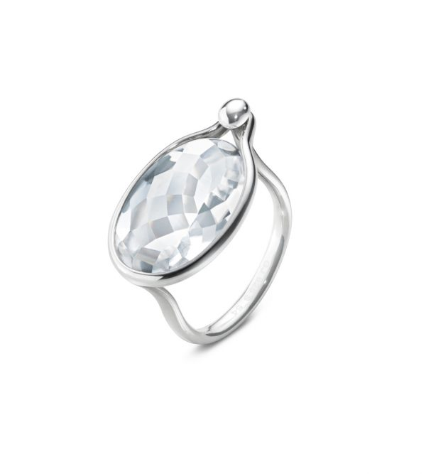 georg jensen savannah silver and rock crystal ring