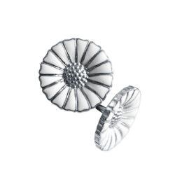 silver white emamel georg jensen daisy earring hancocks manchester