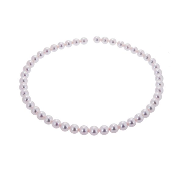 pearl necklet with 18ct gold clasp fittings