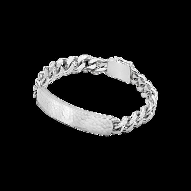 georg jensen smithy silver hammered top chain gents bracelet