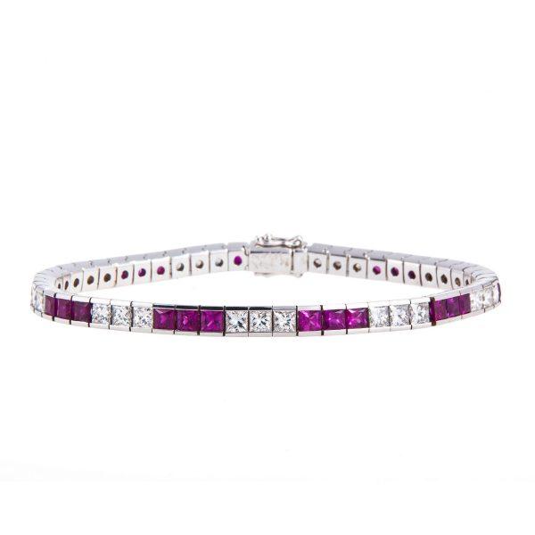 18ct-gold-ruby-and-diamond-claw-set-bracelet