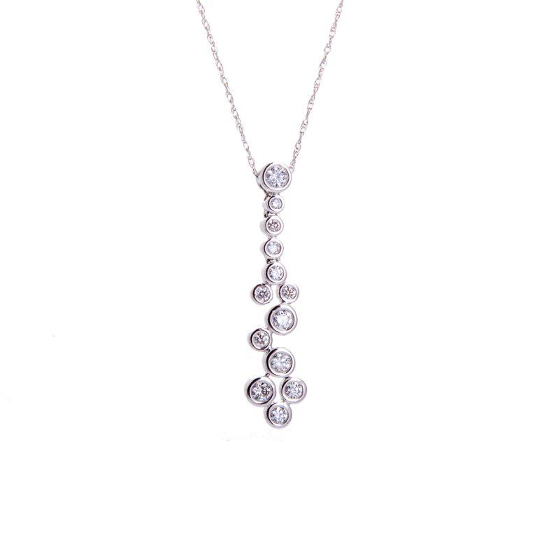 white gold cascade diamond set pendant HC 100719 17