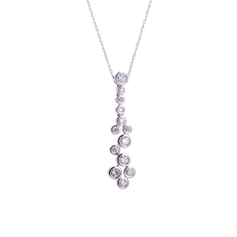 diamond set pendant and chain