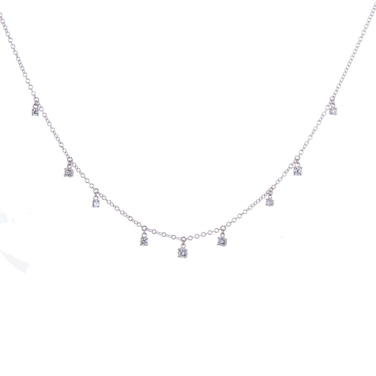white gold diamond set necklace hancocks jewellers manchester H1910 15