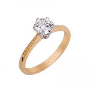 Yellow Gold Brilliant Cut Diamond Single Stone Ring In A 6 Claw Setting HC 100719 62 800x800 1 300x300