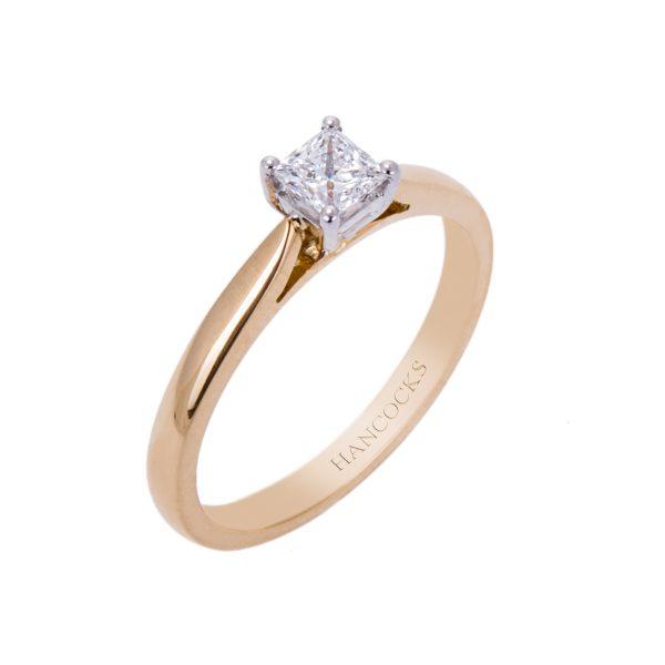0.30ct princess cut diamond engagement ring